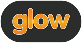 Glow logo on black background