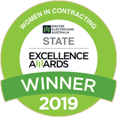 women in contracting state excellence award winner 2019 badge