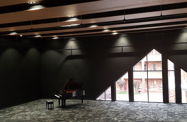 Cabra Dominican College Music Suite with grand piano