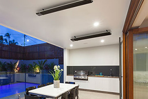 outdoor electric heaters in outdoor entertaining area