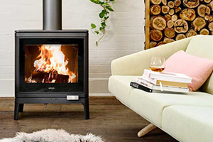 square wood heater