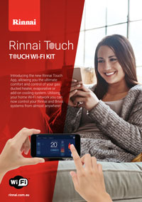 rinnai touch wifi kit brochure