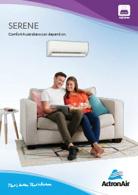 actronair serene brochure cover