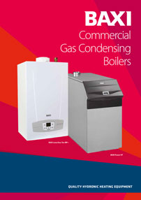 baxi commercial gas condensing boilers brochure cover
