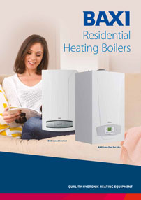 baxi residential heating boilers brochure cover