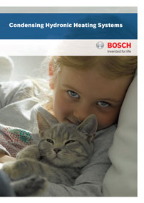 bosch hydronic heating systems brochure cover