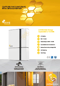 Solar panel battery Hive brochure