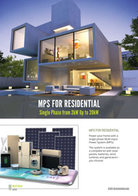 MPS residential battery storage system