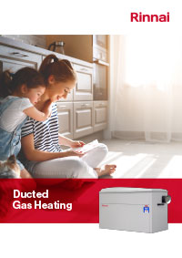 rinnai ducted gas brochure cover
