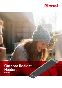 rinnai outdoor radiant heaters brochure cover