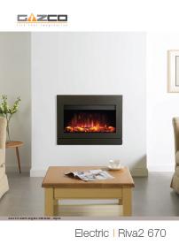 Gazco electric fires brochure