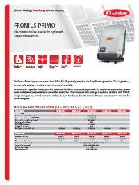 fronius primo brochure