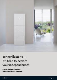 Solar battery system sonnen brochure