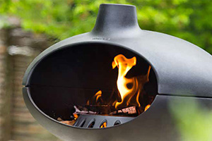 outdoor oven with fire