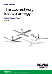 Link to view Clipsal ceiling fans brochure