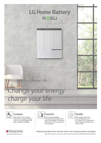 LG home battery storage brochure