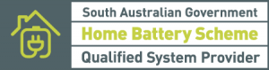 South Australian Government Home Battery Scheme Qualified System Provider logo