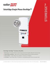 solar battery system inverter solaredge single phase brochure