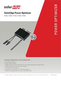 Solar power optimizer solaredge brochure
