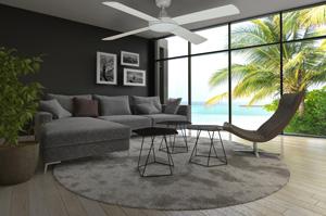 ceiling fan in modern interior