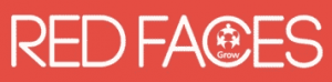 red faces logo