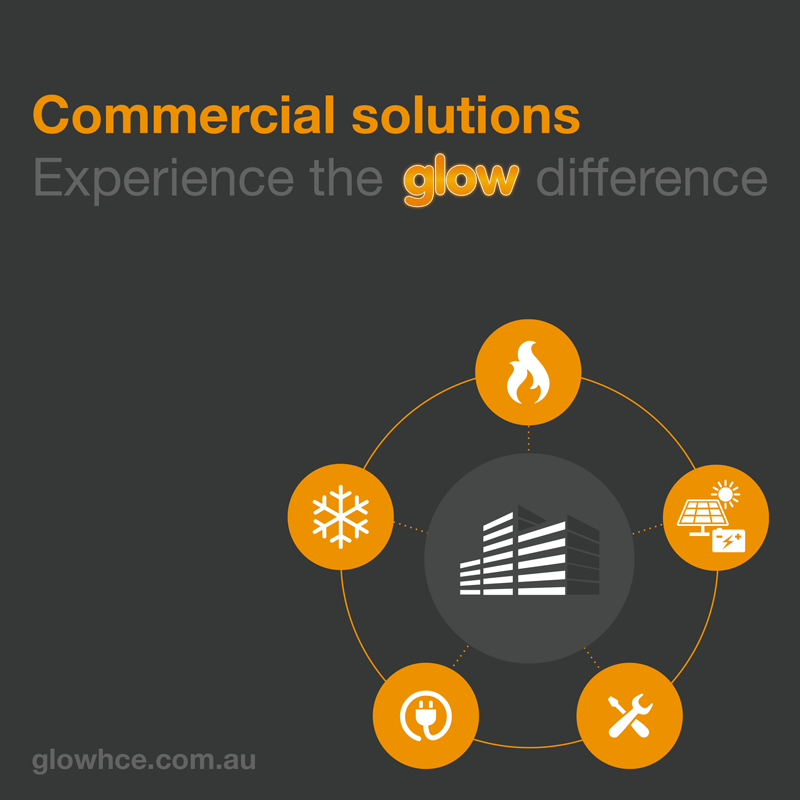 Front cover of Glow Commercial Capabilities brochure