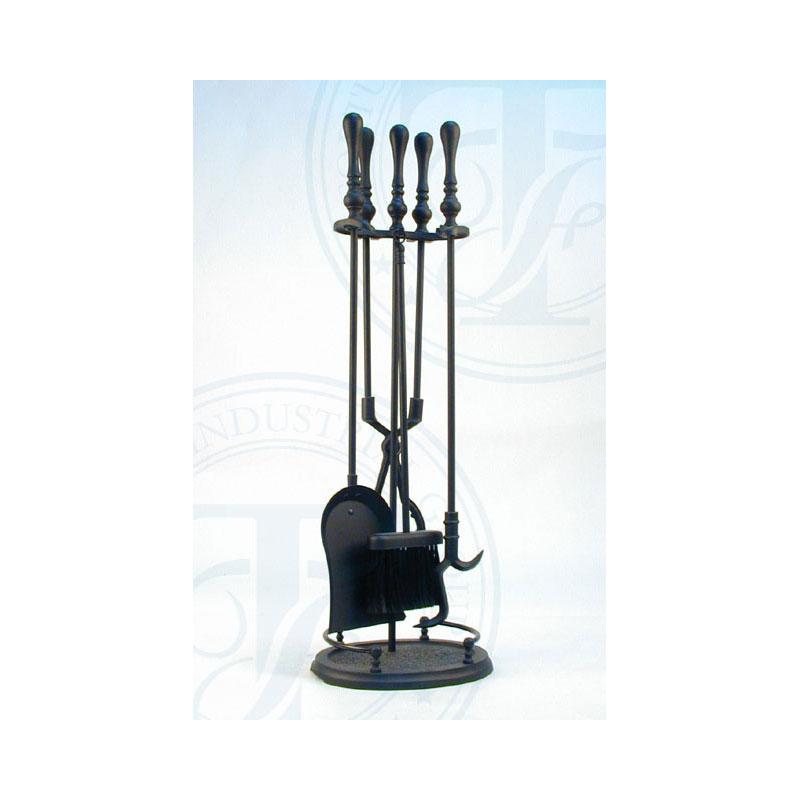 Melton black fire tool set