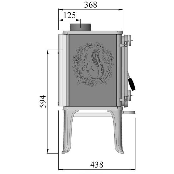 Morso 1410 wood heater dimensions