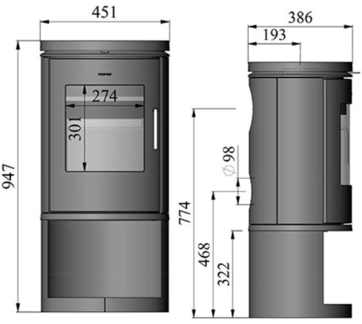Morso 6143 dimensions