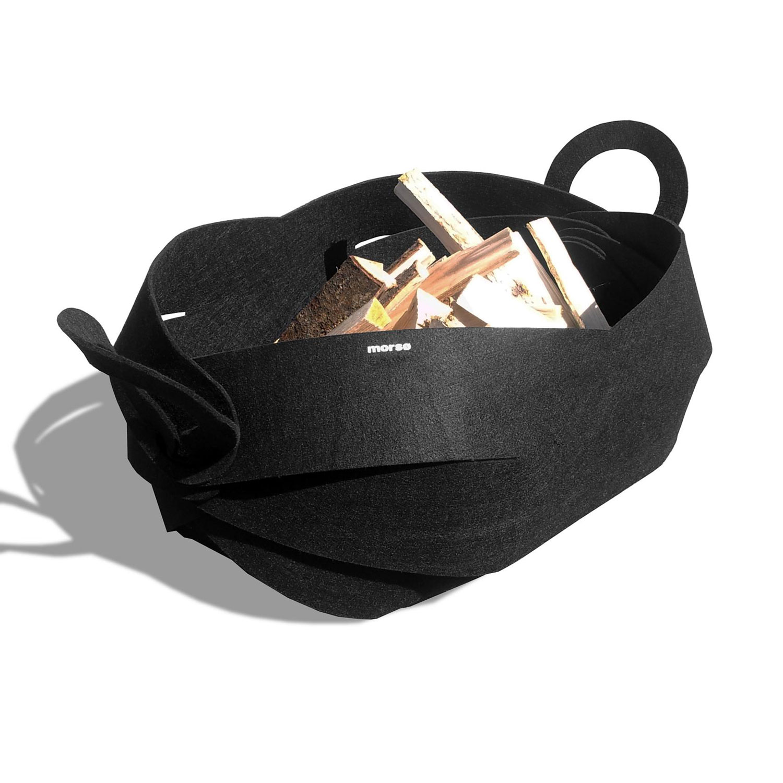 Morso Curva felt basket for carrying wood