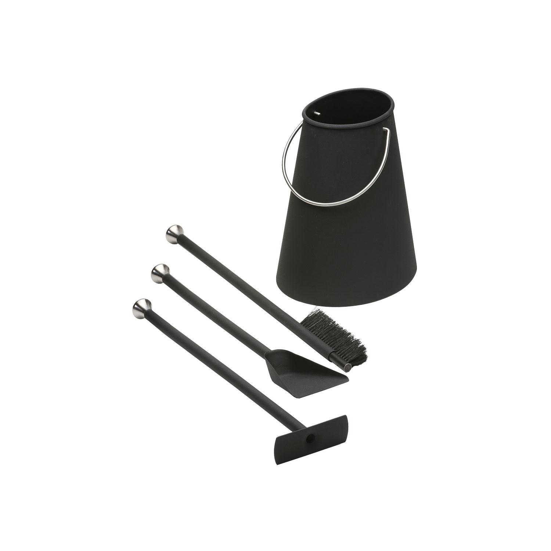 Morso fire tool set comprising bucket and 3 tools