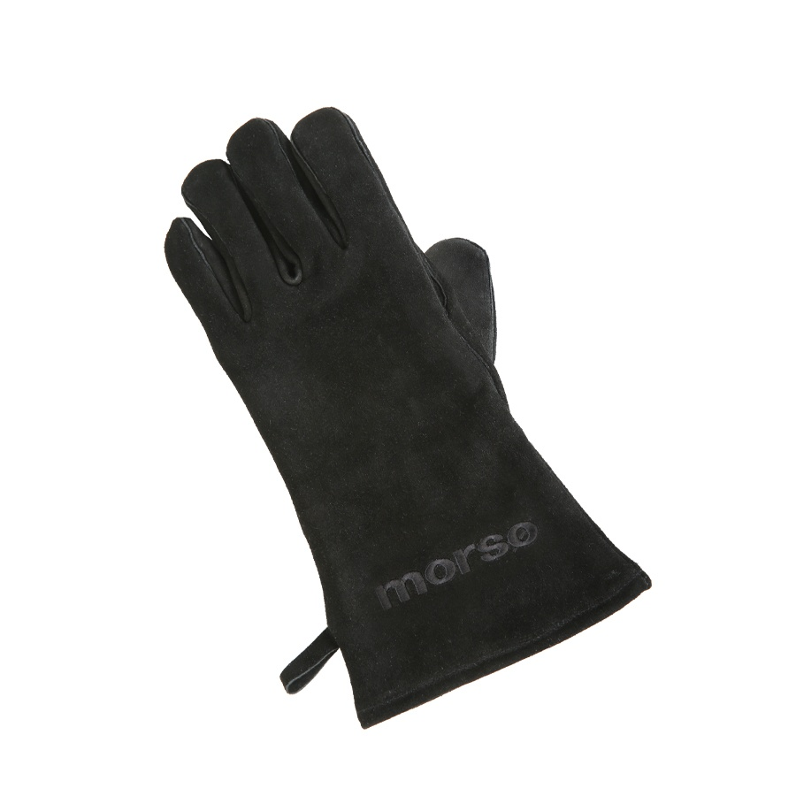Morso heavy duty leather fire and grill glove for left hand