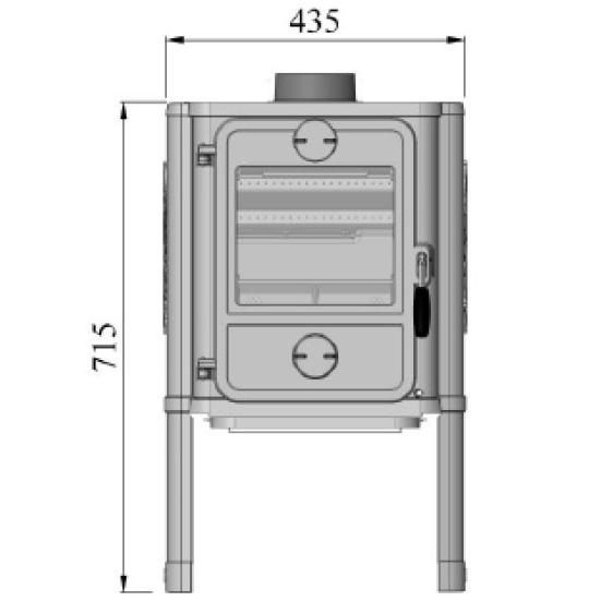 Morso 1440 wood heater dimensions