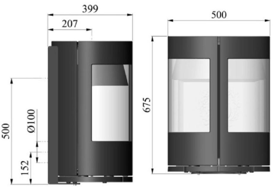 Morso 6670 dimensions