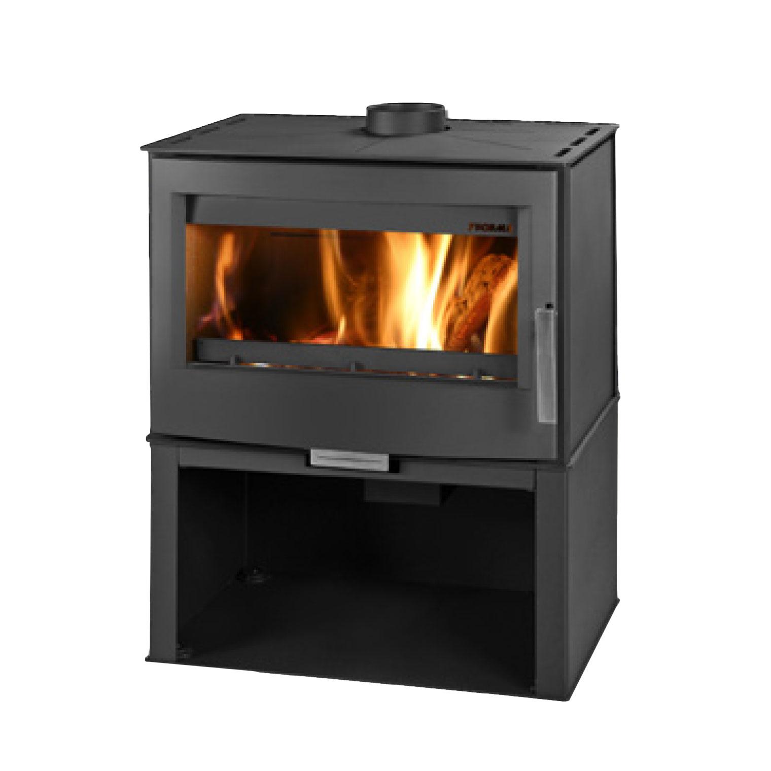Euro Buller pedestal box freestanding wood fire
