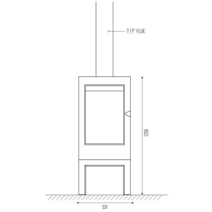 Invicta Argos flue and firebox dimensions