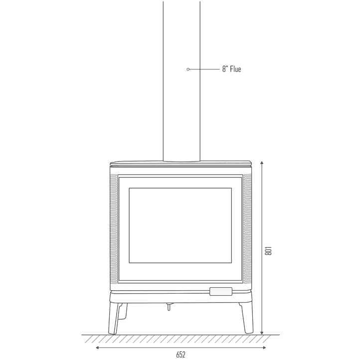 Invicta Kazan flue and firebox dimensions