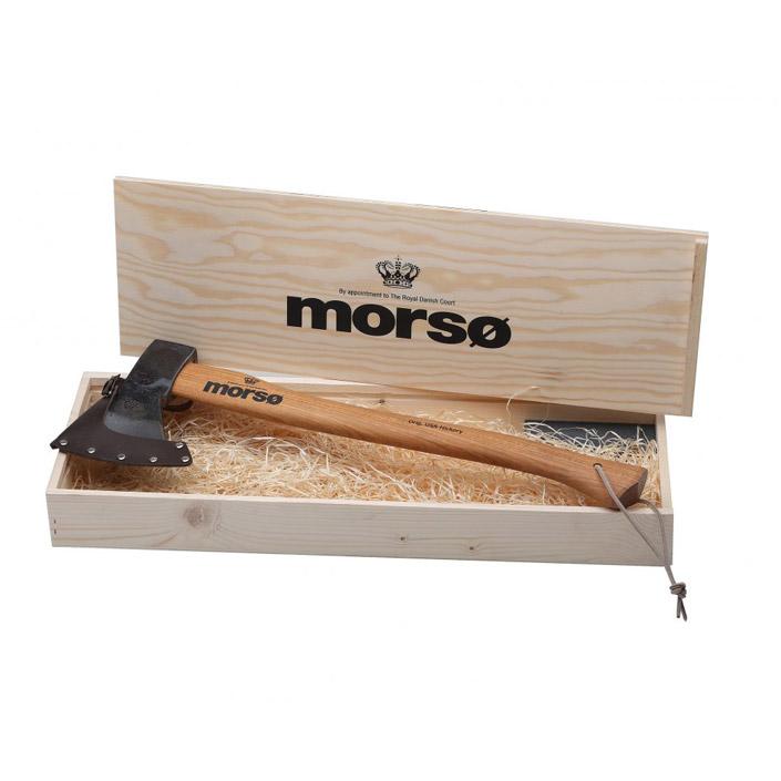 Morso axe in branded timber box
