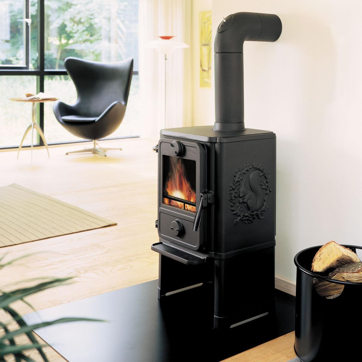 Morso 1440 wood heater in living room