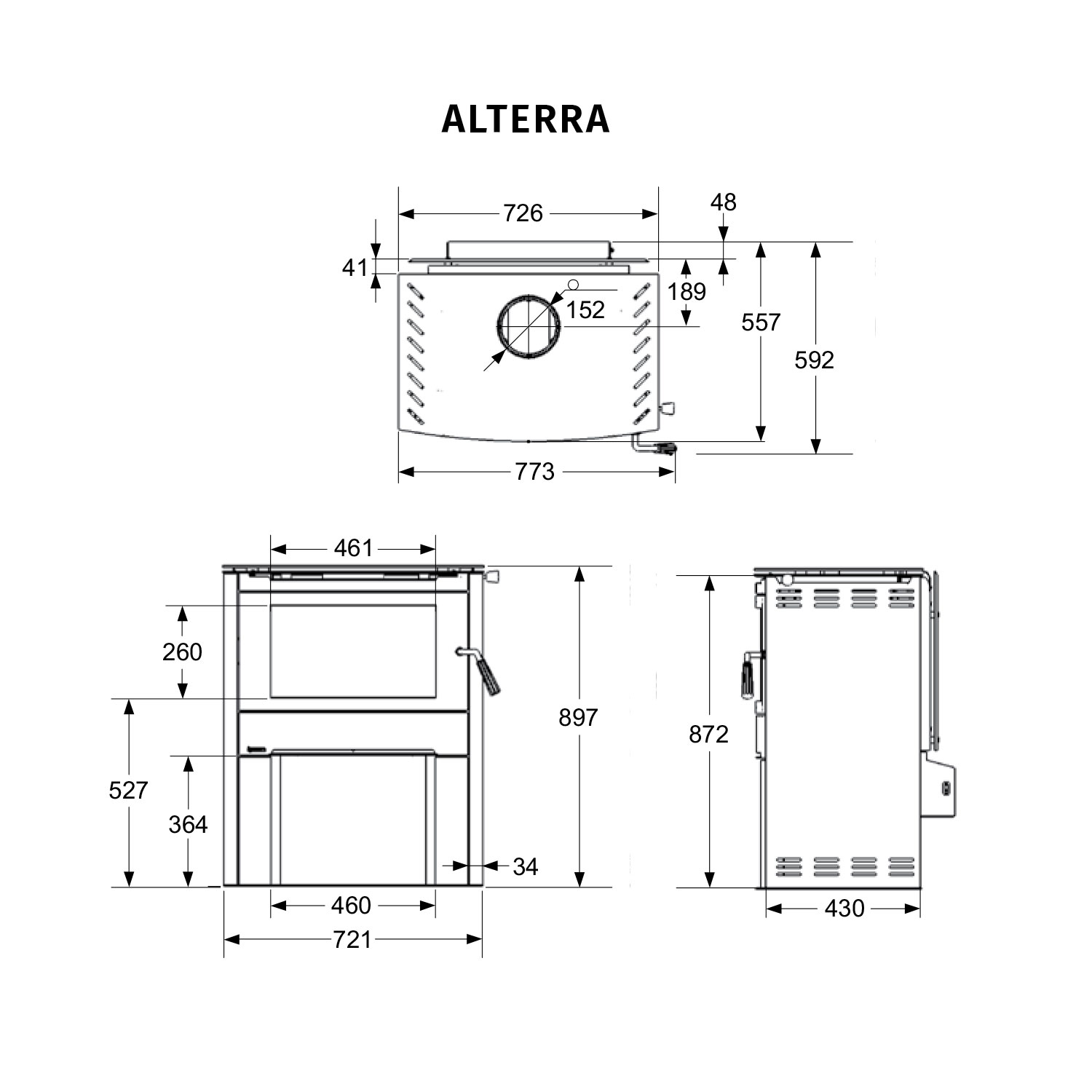 Regency Alterra dimensions and specifications