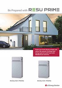 home solar panel battery storage Resu Prime brochure