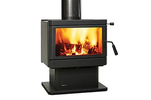 Rustic style fire box freestanding