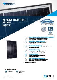 Q Peak Duo Solar Panels brochure front cover
