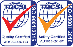 quality and safety certification badge
