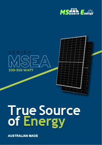 MSquare MSEA Australian Made Solar Panels brochure front cover